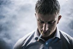 Smokes lets go... (JonnyVSM) Tags: smoking smoke portrait street photography promo dof blue people cool candid