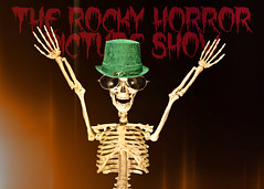 Trick Or Treat! (Good Morning Everyone :)) Tags: odc rhps rockyhorrorpictureshow twiggy skeleton model delighted hat green themadhatter topzs letters font