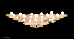Candles 30 September 16 1 (Helen Mulvey) Tags: candle light triangle depth field dof nikon d5100 flame