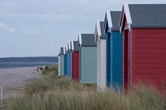 any colour you like (almost) (D-j-L) Tags: scotland unitedkingdom gb beachhut beach hut findhorn moray morayfirth grass sky sea pentax k5 pentaxk5