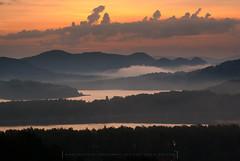 IMGP0635 (Mirek Pruchnicki) Tags: bieszczady mountains poland polańczyk solina subcarpatian fog lake misty morning morninglight sunrise województwopodkarpackie polska