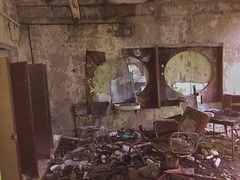 Barber Shop Hairdresser- Pripyat (Chernobyl Exclusion Zone)_7 - Copy (Landie_Man) Tags: none hair salon pripyat care haircare barber hairdressers disused derelict haircut cut pamper hairdo cutting scissors style radiation radioactive ionising sad abandoned closed community neighbourhood neighbours