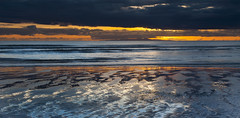 October Sunset, St Bees (Nick Landells) Tags: stbees beach sunset sand reflection reflections isleofman sea seascape