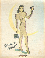 Lucky Star Cafe (jericl cat) Tags: matches matchbook match illustration vintage losangeles paper ephemera restaurant dining cocktail lucky star cafe girlie pinup cutetrick southgate south gate cutie