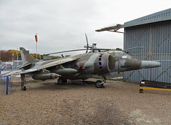 XV752 British Aerospace Harrier GR.3 (SteveDHall) Tags: aircraft airport aviation airfield aerodrome aeroplane airplane museum airmuseum southyorkshireairmuseum syam doncaster 2016 preserved ondisplay xv752 britishaerospaceharriergr3 harriergr3 britishaerospace british harrier gr3 britishaerospaceharrier vstol vtol jumpjet raf royalairforce