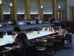 A Close Up of Students Studying in a Library (itnmarkeducation) Tags: students learning teaching teach pupils education lesson manchester library learn teacher book books bookshelf itnmark
