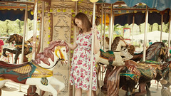 Carousel Photo Shoot -    (By Khusen Rustamov) (xusenru) Tags: pregnant summer carousel park city childhood girl dress moscow russia model girloncarousel sun pregnancy childrensphotographer waitingforthemiracleofbirth themodel thestomach theexpectantmother havingababy momsoon female willmum happiness beauty woman mother femininity belly photoshoot posing horsejoy light