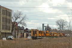 Steel 8501 tail A (Milwaukee beerNut) Tags: up wi racine cnw 605 mow maintenance trackwork relay