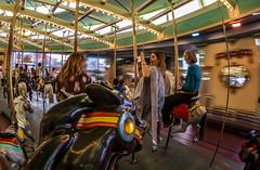 Looff Carousel (matman73072) Tags: santacruz boardwalk amusementpark rides looff carousel strangers motionblur fisheye