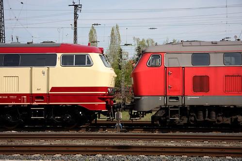 DB 218 und DB 225, Aschaffenburg