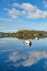 Don't be afraid to rock the boat. If someone falls out , then they weren't meant to be in your boat. (~Ranveig Marie~) Tags: auklandsvika grindafjord grindafjorden tysvær haugalandet boats båter båt boat reflection beauty speiling spegling clouds skyer haugaland rogaland