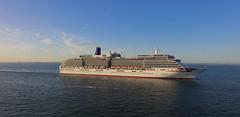 2016.09-11.1839,14sm P&O Arcadia leaving Southampton (mwe152) Tags: po arcadia solent cruiseship cruise englishchannel summer ete evening england portsmouth