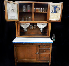 FURNITURE:  Hoosier cabinet.