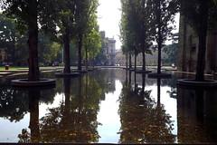 Through the origins (bulgit) Tags: trees water air park shade autumn origins eyes mirrow doubleworld reflexion parma italy