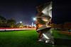 Habakuk Statue (ShutterRunner) Tags: chicago habakuk statue sculpture lighttrails lightgraffiti lakeshoredrive