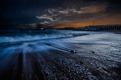 (Glen Parry Photography) Tags: nikon night nightphotography nightsky beach water sea seascapes seafront coast longexposure glenparryphotography d7000 dorset sigma sigma1020mm