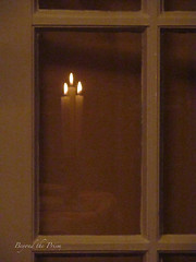 IMG_4290 blur (Beyond the Prism) Tags: candles window door frenchdoor light indoors reflection