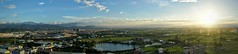 Panorama on 23D2 (pang yu liu) Tags: oct 2016 10 十月 深耕 深耕十 深耕學 大廈 日落 夕照 黃昏 sunset dusk panorama 全景 highrise bade 八德 apartment
