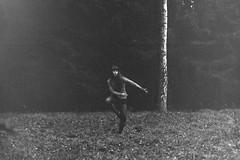 dancing on a rainy day (Luca Milan Joel Mato Seeger) Tags: dancing rainyday rain dark bw analog shootingfilm film anna dancinginsocks moody kodak filmshooter november cold lovelyday