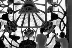 Tay Ninh 1961 (manhhai) Tags: deuxpersonnes eye fidèle nofaces oeil tayninh temple twopeople vegetableeffigy végétaleffigie worshiper