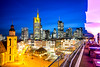 The Skyline of Frankfurt (pure:passion:photography) Tags: skyline frankfurt frankfurtammain sonya99 sonyalpha99 city cityscape view bluehour longtime exposure hessen germany deutschland purepassionphotography hauptwache zeil nachtaufnahme nightshot blue sky sunset sundown colors colourful architecture