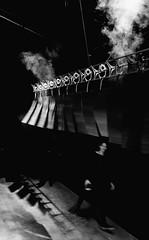 """""""Shanghai Street"""" (nokkie1) Tags: eindhoven holland netherlands ddw ducthdesignweek dekazerne steam wind lines movement light shadow art design person black white contrast"""