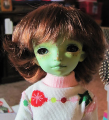 So cute! I haven't figured out her new name yet. (JinxKloe) Tags: 5star green resin yosd jadite