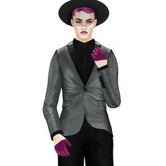 Violets are Twisted (Winter Jefferson) Tags: secondlife winterjefferson purple kauna avatar vampire fashion