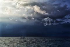 Loneless (marko.erman) Tags: sky dramatic clouds ocean pacifc maui hawaii usa sailing loneless sony outside water light shadow immensity skies contrast