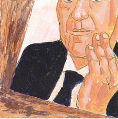# 326 (21-11-2016) (h e r m a n) Tags: herman illustratie tekening bock oosterhout zwembad 10x10cm 3651tekenevent tegeltje drawing illustration karton carton cardboard male man portrait portret spiegelbeeld spiegel mirror beeldbad