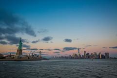 Manhattan Skyline Views (yaznatasha) Tags: newyork nyc newyorkcity usa america canon canon5dmarkiii lightroom outdoors outdoor november winter christmas sunset statueofliberty libertyisland