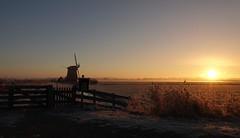 Sunrise on a cold November morning. (peeteninge) Tags: sunrise zonsopgang morning ochtend cold koud november autumn herfst mill molen holland hollandslicht dutch dutchlight countryside landscape landschap outdoor nature natuur
