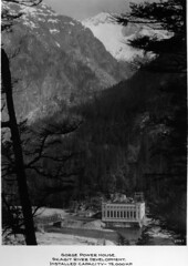 Gorge Power House, 1930 (Seattle Municipal Archives) Tags: seattlemunicipalarchives skagitproject hydroelectricity publicpower publicutilities electricity dams powerhouses cascademountains cascades northcascades mountains 1930s