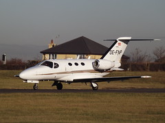 OE-FNP Cessna Citation Mustang 510 GlobeAir AG (Aircaft @ Gloucestershire Airport By James) Tags: gloucestershire airport oefnp cessna citation mustang 510 globeair ag bizjet egbj james lloyds