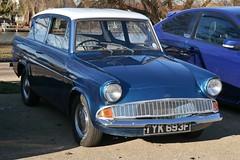 1968 Ford Anglia (davocano) Tags: tyk693f 105e waltonbridgebreakfastclub