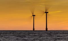 Windpower (jammo s) Tags: windmill windturbine sea two greatyarmouth ocean windfarm sunrise energy lightroom canoneos6d canonef400mmf56lusm