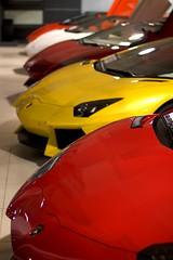 Lamborghini Aventador's (ChiarelliRobert) Tags: lamborghini aventador sexy repetition red yellow white matte fast