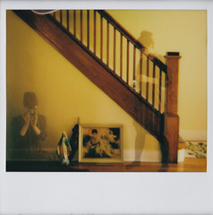 nesting (Lisa Toboz) Tags: impossibleproject instantfilm polaroid selfportrait doubleexposure newhouse nesting dormont pittsburgh spectrasystem