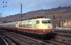 103 184  Esslingen  28.12.11 (w. + h. brutzer) Tags: esslingen eisenbahn eisenbahnen train trains elok eloks 103 e03 railway deutschland germany lokomotive locomotive zug db webru analog nikon
