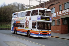 Stagecoach Manchester 3198 (C198 YBA) (SelmerOrSelnec) Tags: stagecoachmanchester leyland olympian northerncounties c198yba stockport gmt bus