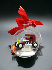 I wish you all a peacefull christmas (noggy85) Tags: lego moc hotrod legochristmasbauble whitetires weisefelgen dunkelrot darkred schwarz black