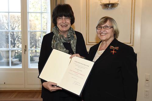 Bundesverdienstkreuz für Marga Elser