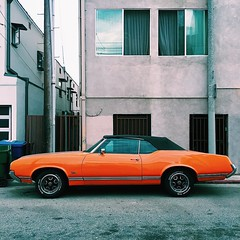 Venice Muscle (Looking Glass) Tags: softtop convertible orange musclecar la losangeles california venice ifttt instagram