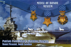 postcard - Patriots Point Museum, Mt. Pleasant, SC (Jassy-50) Tags: museum boat ship postcard military southcarolina award medal yorktown aircraftcarrier damaged naval usnavy mtpleasant ussyorktown medalofhonor patriotspoint patriotspointmuseum patriotspointnavalmaritimemuseum medalofhonormuseum
