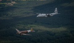 Ramstein Airmen rekindle piece of D-Day history (Ramstein Air Base) Tags: heritage legacy lockheedmartin w7 douglasc47skytrain c130jsuperhercules whiskey7 70thaniversaryofdday