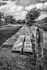 Time For A Rest (graeme murray - digitalplaces) Tags: wood blackandwhite bench flow picnic seat sit rest southport