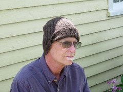 Slouchy brown hat (knittingdragonflies) Tags: b hat modern susan anderson rib knitted slouchy