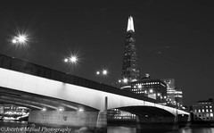 The Shard B&W- London 2014 (jocelynmifsud) Tags: england blackandwhite bw london night londonbridge londonbridgenight theshard blackandwhiteshard londonbridgebw