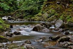 David Marshall Lodge (annashirron) Tags: water evening waterfall rocks stream dusk stirling trossachs lochlomond slowshutterspeed aberfoyle davidmarshalllodge