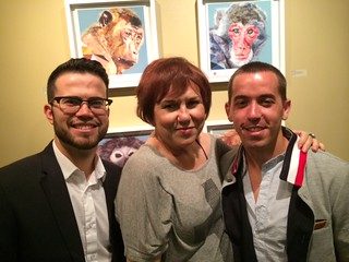 Artist Juan Travieso, gallery director Lilia Garcia and artist Ray Lopez at the Coconut Grove arts Festival gallery opening